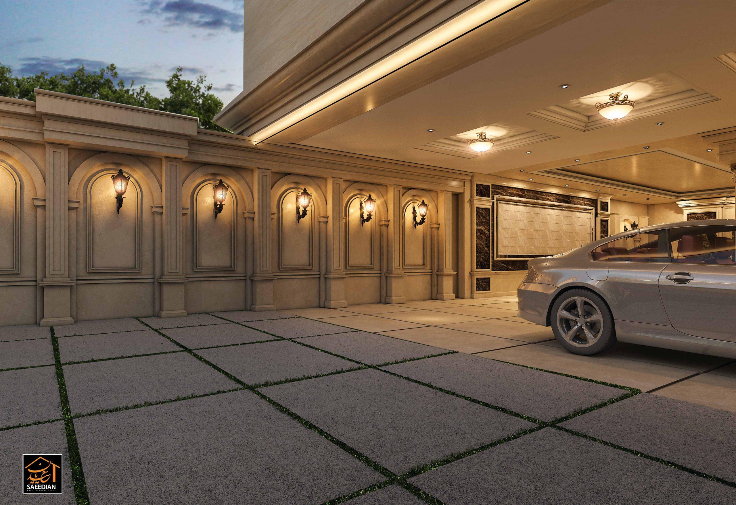طراحی پارکینگ کلاسیک