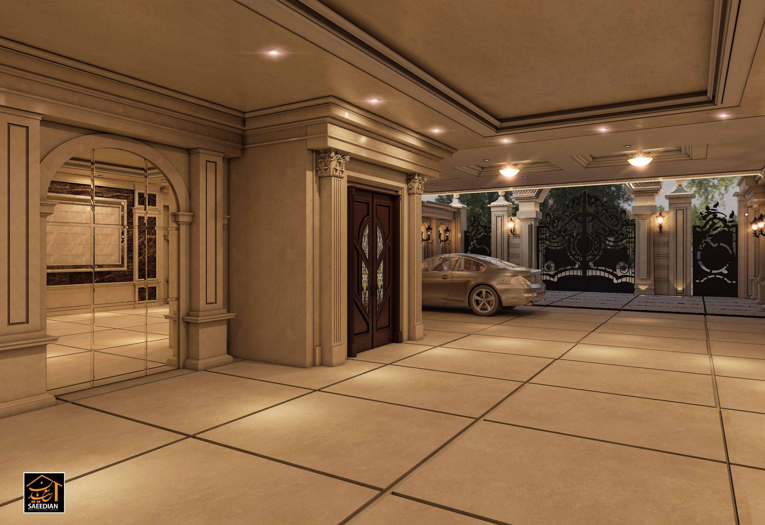 طراحی پارکینگ کلاسیک ساختمان