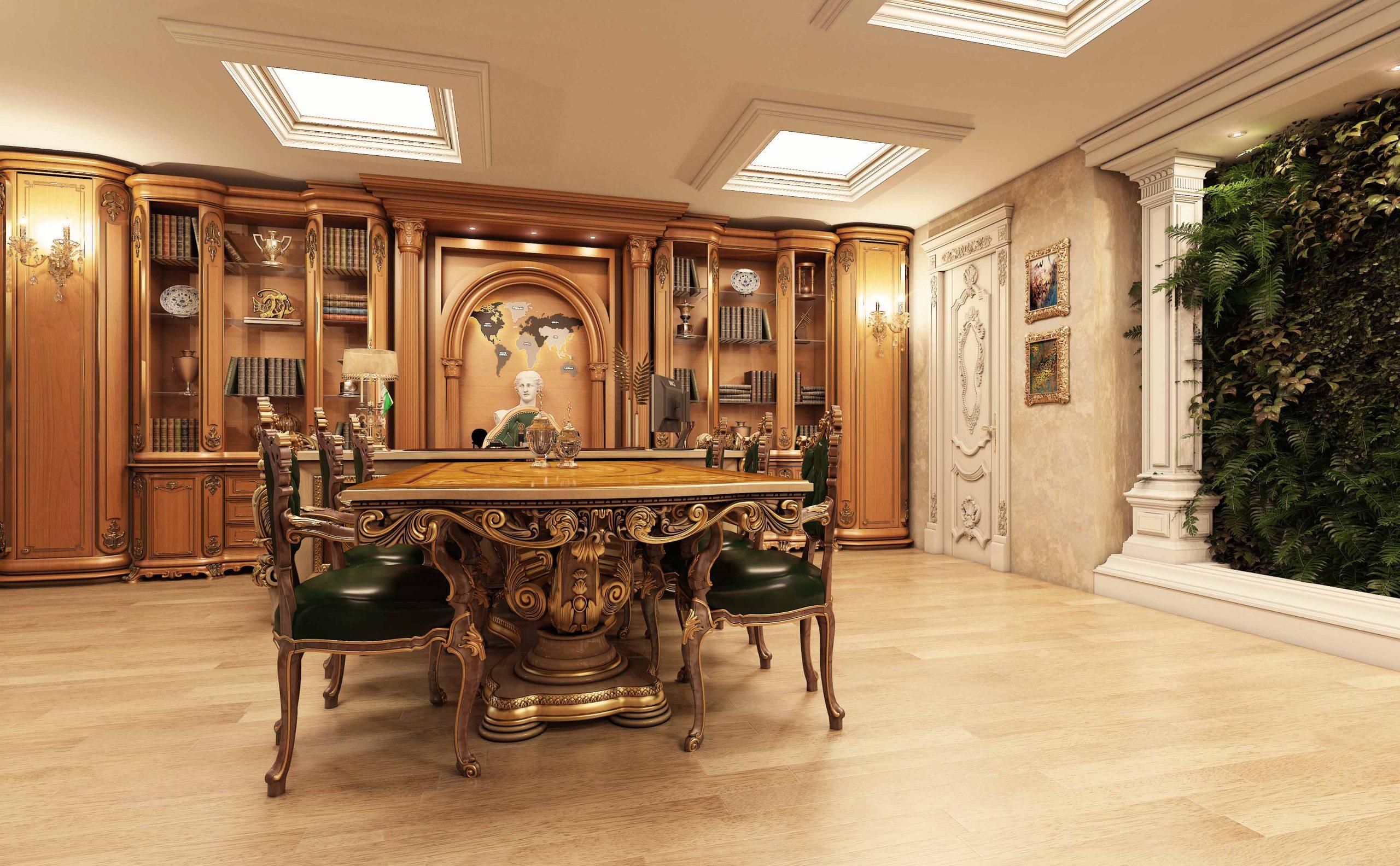 طراحی اتاق مدیریت کلاسیک