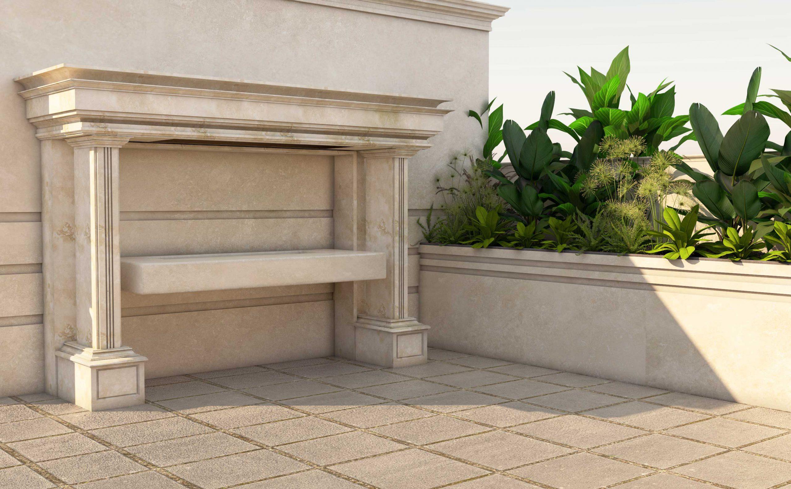 طراحی روف گاردن کلاسیک