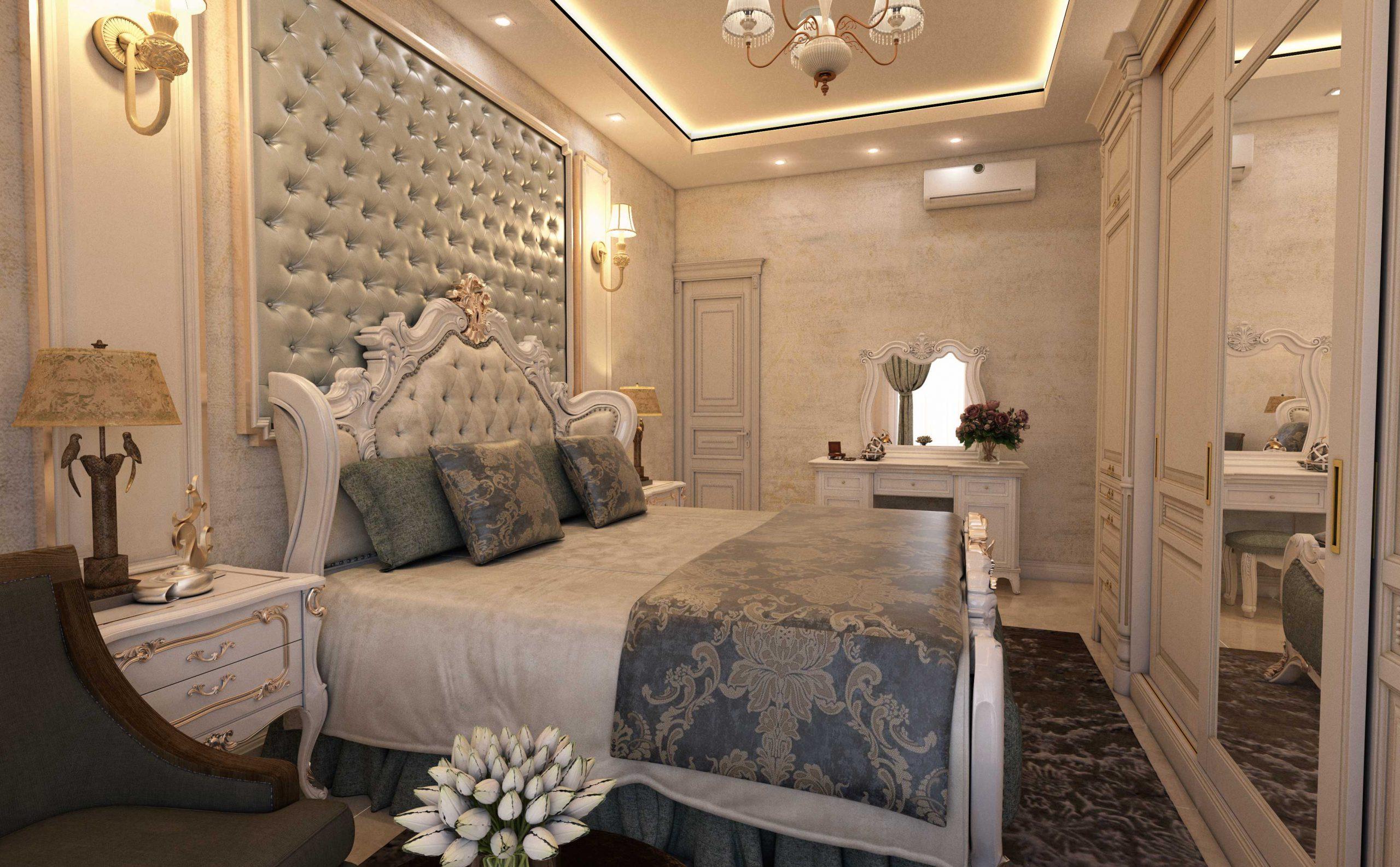 طراحی اتاق خواب کلاسیک