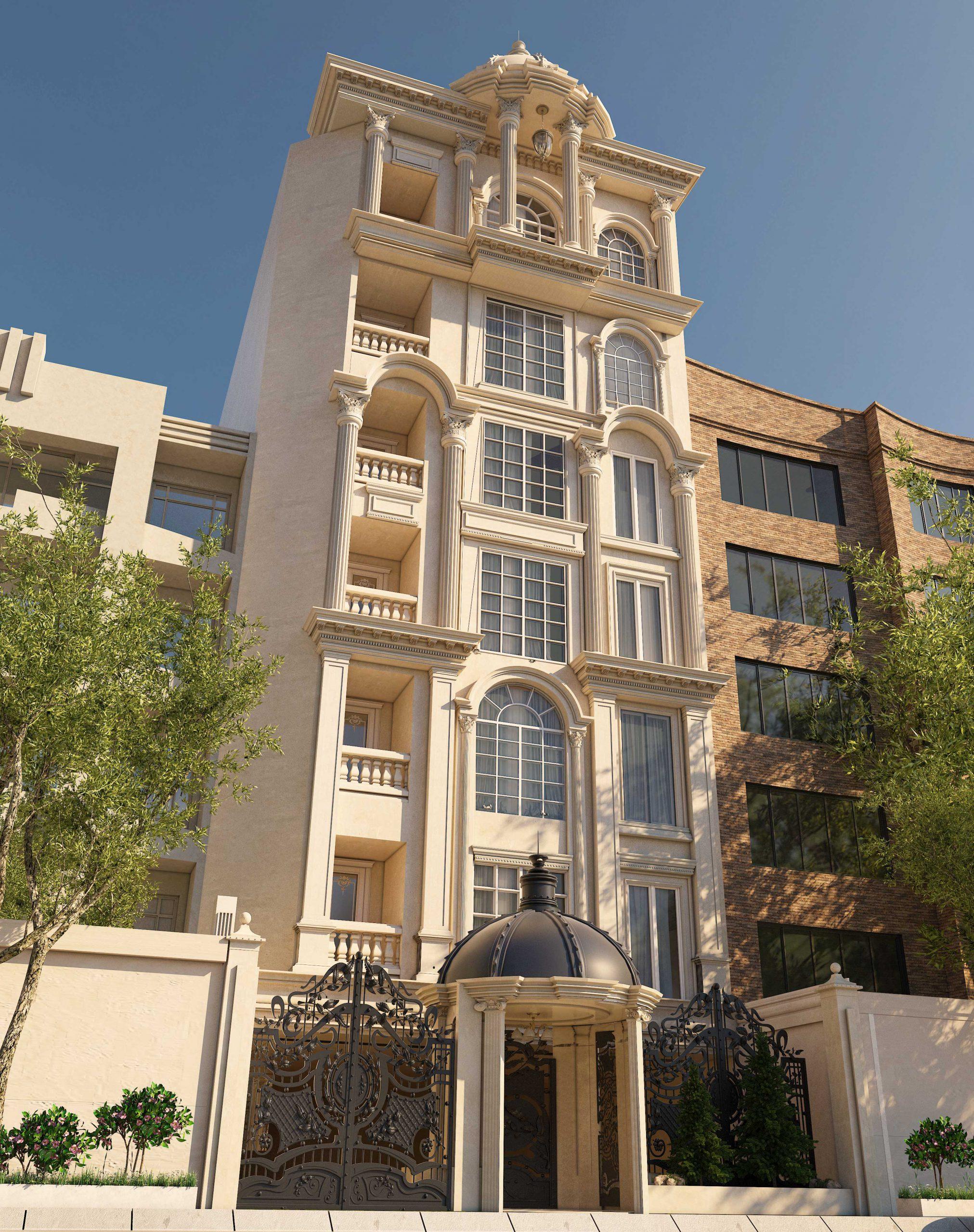 طراحی نما ساختمان در مشهد