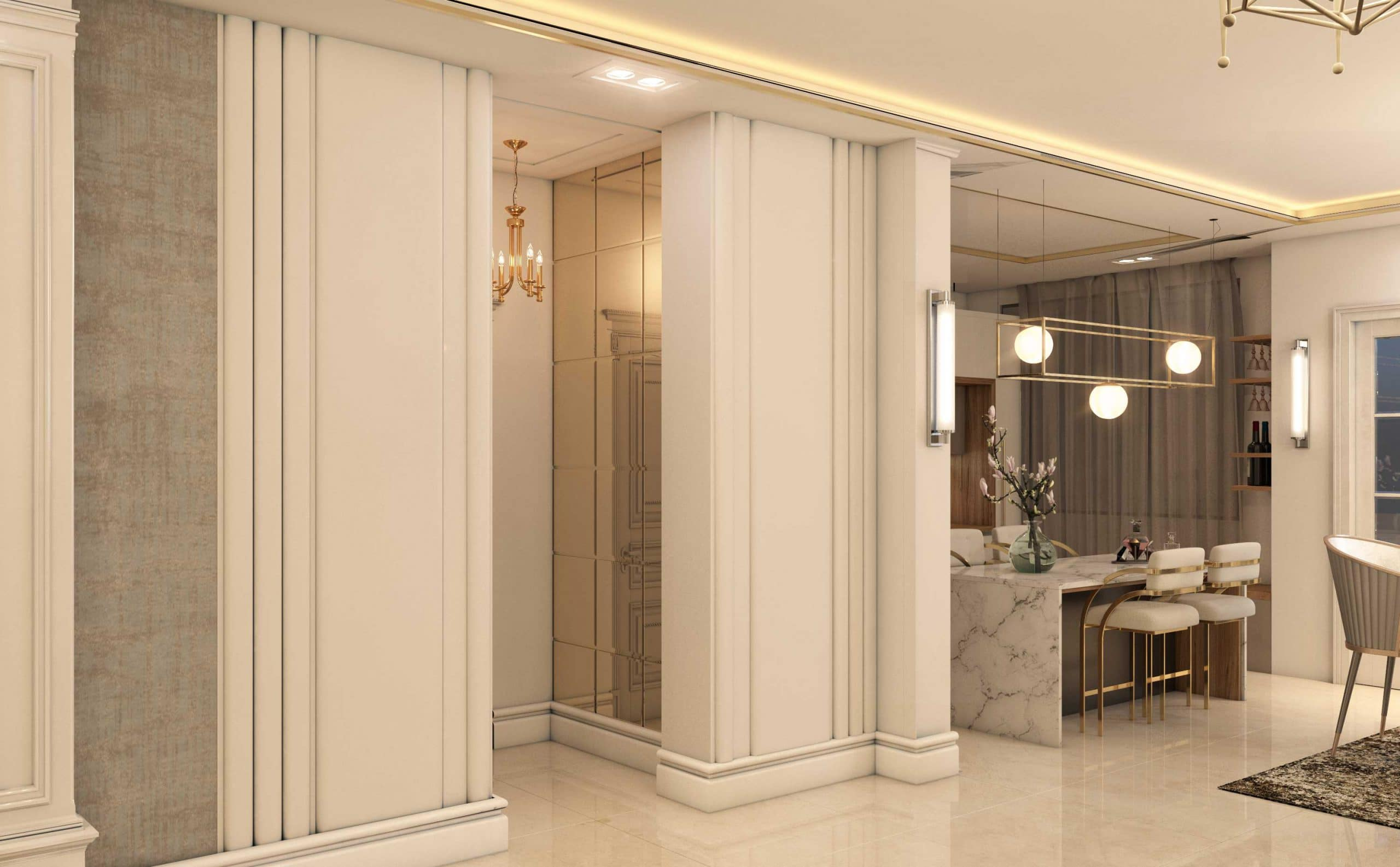 طراحی داخلی کلاسیک گروه معماری سعیدیان